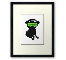 celebrate party music dj silhouette glasses headphones koala dancing club funky Framed Print