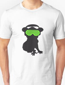 celebrate party music dj silhouette glasses headphones koala dancing club funky Unisex T-Shirt