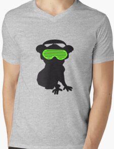 celebrate party music dj silhouette glasses headphones koala dancing club funky Mens V-Neck T-Shirt