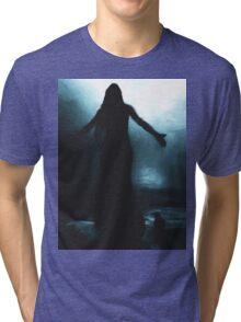 celtic goddess morrigan crow raven rain water woman animal mythical Tri-blend T-Shirt