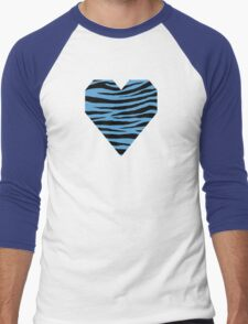 0115 Carolina Blue Tiger Men's Baseball ¾ T-Shirt