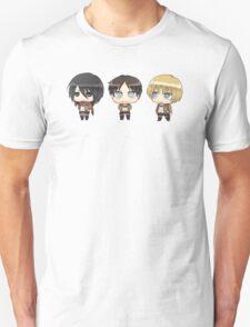 mikasa, eren, armin Unisex T-Shirt