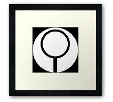 Halo - Marathon Sigil (White) Framed Print