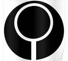 Halo - Marathon Sigil (Black) Poster