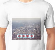Chicago city with chicago flag text color photo Unisex T-Shirt