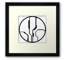 Halo - Forerunner Sigil (Black) Framed Print