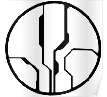 Halo - Forerunner Sigil (Black) Poster