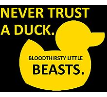 Never Trust a Duck Photographic Print