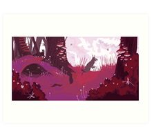 The Pink Velvet Forest Art Print