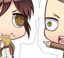 sasha and conny Sticker