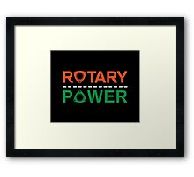 Rotary Power Framed Print