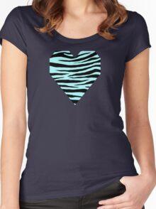 0118 Italian Sky Blue or Celeste Tiger Women's Fitted Scoop T-Shirt