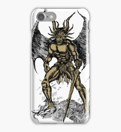 Flying Monster With Sword iPhone Case/Skin