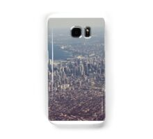 Chicago from the air color photo Samsung Galaxy Case/Skin