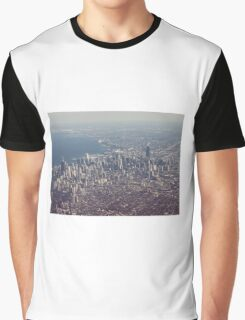 Chicago from the air color photo Graphic T-Shirt