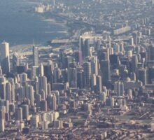 Chicago from the air color photo Sticker