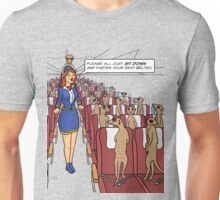 Meerkats on a Plane Unisex T-Shirt