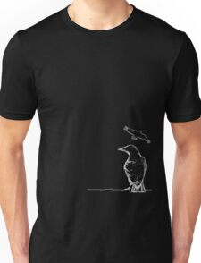 Crows Fly Black.. Unisex T-Shirt