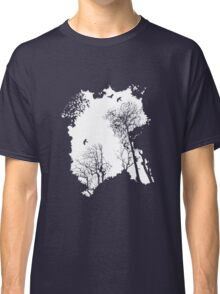 White forest silhouette on a range of backgrounds Classic T-Shirt