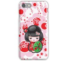 Japanese Kokeshi Doll iPhone Case/Skin