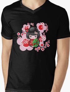 Japanese Kokeshi Doll Mens V-Neck T-Shirt