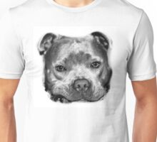 Staffie Dog Drawing Unisex T-Shirt
