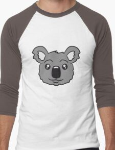 head koala face sweet cute Men's Baseball ¾ T-Shirt