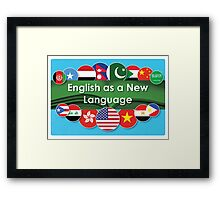English as a New Language Framed Print