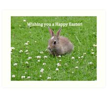 Easter Bunny Wishes - NZ Art Print