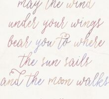 The Wind Under Your Wings Sticker