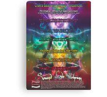 Chakra Balancing Solfeggio Frequencies Meditation Help Chart Canvas Print