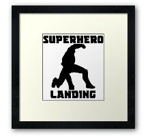 Superhero Landing Framed Print