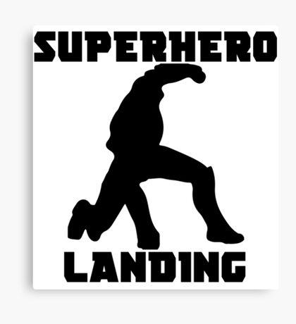 Superhero Landing Canvas Print