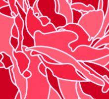 Red Peony Sticker