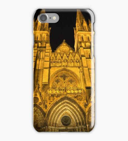 The Bayeux Cathedral at Night  (1) iPhone Case/Skin