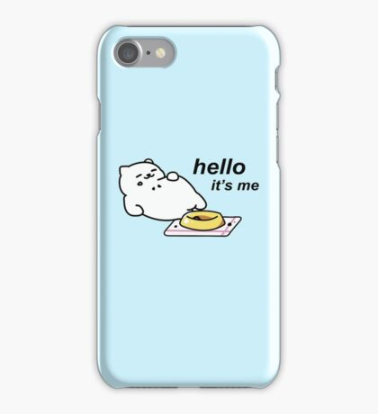 Neko Atsume - Tubbs (hello...it's me) iPhone Case/Skin