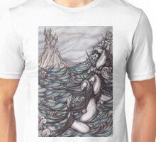 Unicorns in Sea Unisex T-Shirt