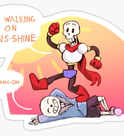Walking on Sans-Shine Sticker