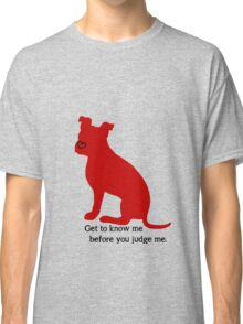 Know Me Before You Judge Me pit bull logo Classic T-Shirt