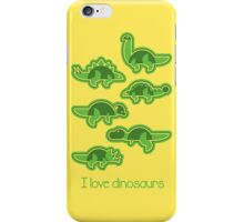 I love dinosaurs iPhone Case/Skin