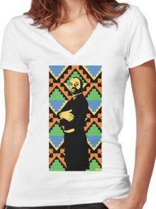 Geoffrey, Fresh Prince of Bel Air, Street Art, Stencil Art Women's Fitted V-Neck T-Shirt