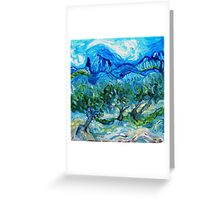 The Olive Groves where Vincent Walked Greeting Card