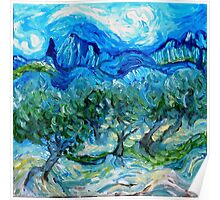 The Olive Groves where Vincent Walked Poster