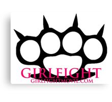 GIRLFIGHT - Main Brass Knuckles Logo Canvas Print