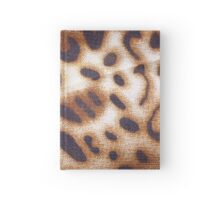 batik hand stamp print with leopard motif Hardcover Journal