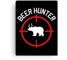 Beer Hunter Canvas Print