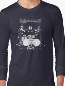 Vintage Da Vinci Drum Long Sleeve T-Shirt
