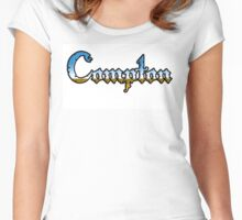 Compton in Chrome style Women's Fitted Scoop T-Shirt