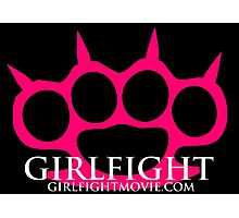 GIRLFIGHT - Pink Brass Knuckles Photographic Print