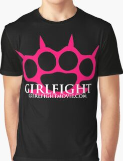GIRLFIGHT - Pink Brass Knuckles Graphic T-Shirt